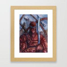 Aquanoid Warrior Framed Art Print