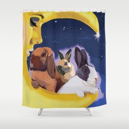 Once Upon A Moon Shower Curtain