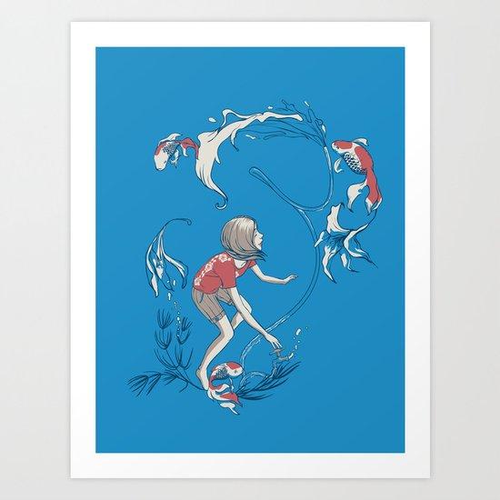 FISH AND WATER Art Print