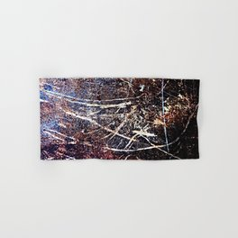 Scratched Rusty Metal Weathered Texture Abstract Hand & Bath Towel