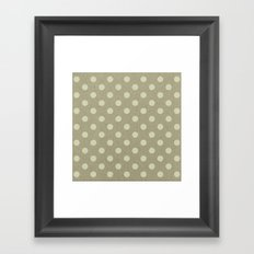 Camel Polka Dots Framed Art Print