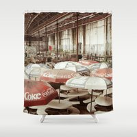 coke Shower Curtains featuring Forgotten Coke by Jonathan May