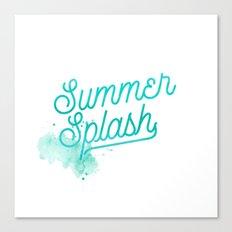 Summer splash- Typography - Holiday Beach Maritime Fun Water Canvas Print