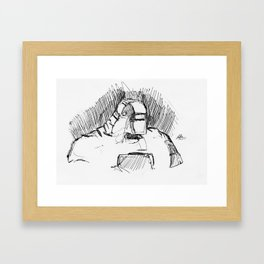 Warbot Sketch #010 Framed Art Print