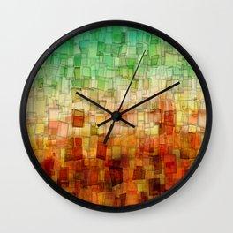Golden Tide Mosaic Wall Clock