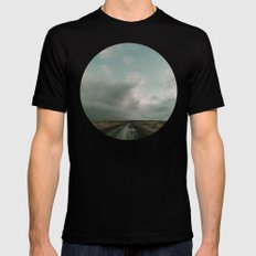 Miles to Go x Iceland Road Black Mens Fitted Tee MEDIUM