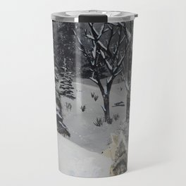 Husky in the Snow Travel Mug