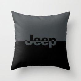 Jeep 'LOGO' Smoke Gray Throw Pillow