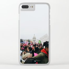 Women's March on Washington Clear iPhone Case