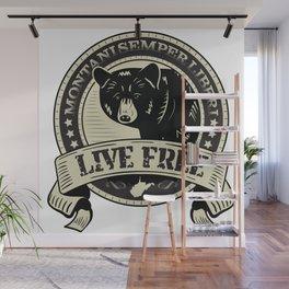 WV Black Bear Live Free T-Shirt Wall Mural