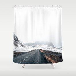 Icelandic landscape in winter Shower Curtain