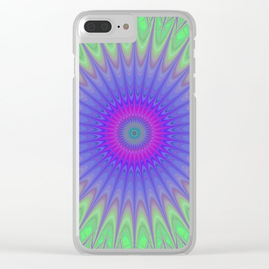 Cold mandala Clear iPhone Case