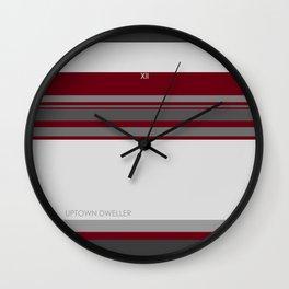 Uptown Dweller - White Wall Clock