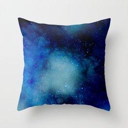 Watercolor Cosmos Throw Pillow