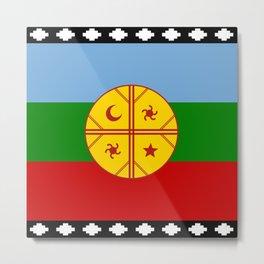 Flag of Mapuche Metal Print