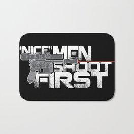 Nice Men Shoot First Bath Mat