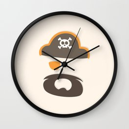 My little orange Pirate Wall Clock