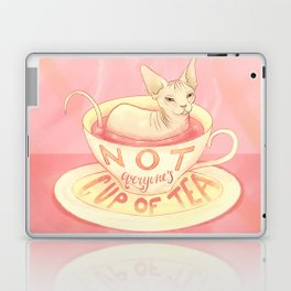 Not everyone's cup of tea - Sphynx Cat Laptop & iPad Skin