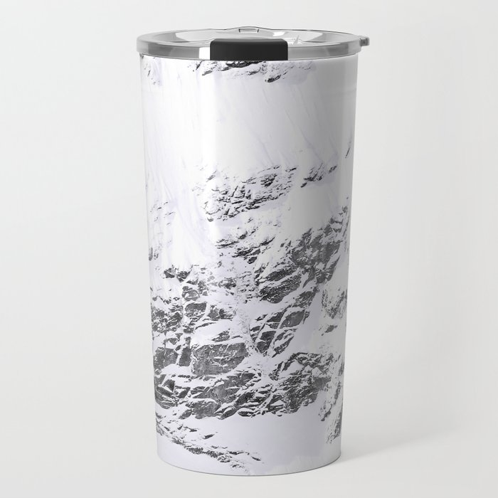 Abstract snowy swiss mountains - winter Alps photography Travel Mug