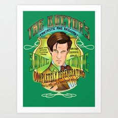 The Doctor's Sonic Tonic! 2.0 Art Print