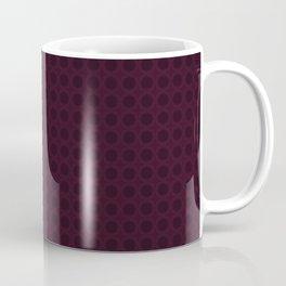 Dark Merlot Wine Circle Pattern Coffee Mug