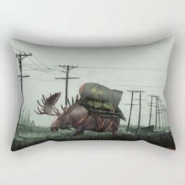 Strategic Nuclear Moose - Fallout - And God Said Let Them Have Beer Rectangular Pillow