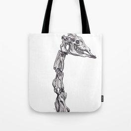 The Anatomy of a Giraffe Tote Bag
