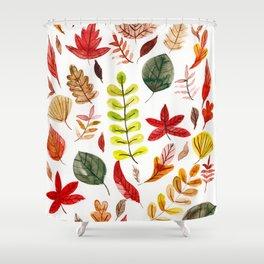 Autumn in February Shower Curtain