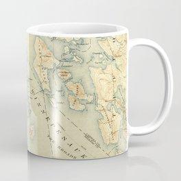 Vintage Map of Lake Winnipesaukee (1907) Coffee Mug