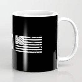Black & White U.S. Flag: New York Coffee Mug