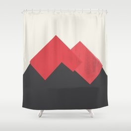 Volcano Pastel Mountains II Shower Curtain