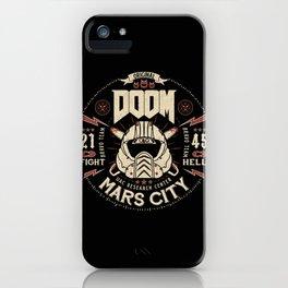 Doom - Fight Hell iPhone Case