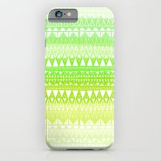 Triangle Gradient Lime Mix iPhone 6s Slim Case