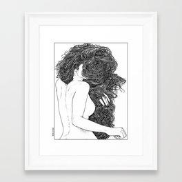 asc 590 - Le peigne (Combing her hair) Framed Art Print