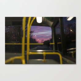 Lonely afternoon ride. Canvas Print