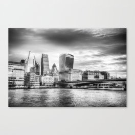 City of London and River Thames Canvas Print