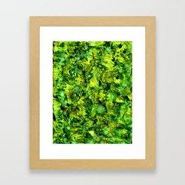 Green Safari Framed Art Print
