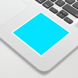 Neon Blue Sticker