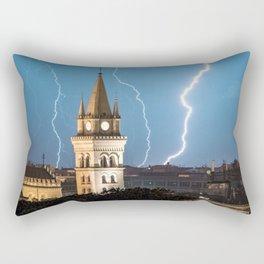 Lightning wall art, lightning church, lightning prints, storm wall art, messina stampa Rectangular Pillow