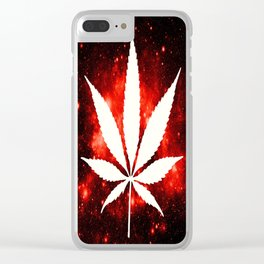 Weed : High Times Red Galaxy Clear iPhone Case