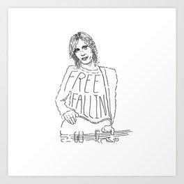 Tom Petty Free Fallin' Art Print