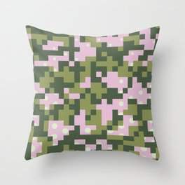 Camo pixel Throw Pillow