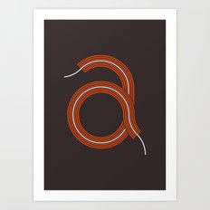 A for Awesome! Art Print