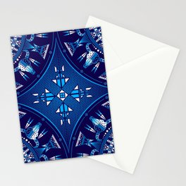 buffalo Gathering blue Stationery Cards