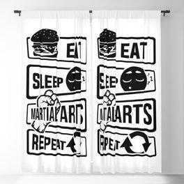 Eat Sleep Martial Arts Repeat - Martial Art Fight Blackout Curtain