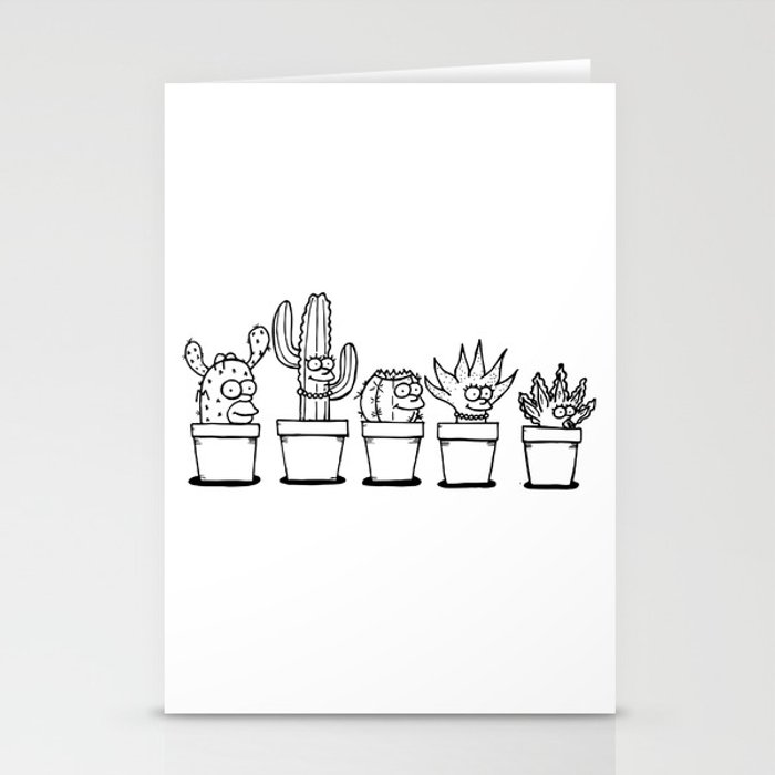 The Succulents Stationery Cards