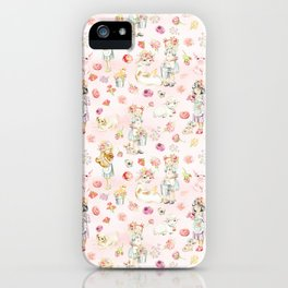 Little girls on the farm iPhone Case