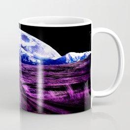 Highway to Eternity (moon mountain) Fuchsia Coffee Mug