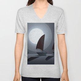 Midnight Sail Unisex V-Neck