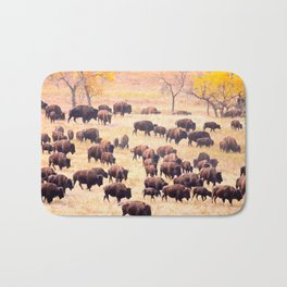 Buffalo Roundup at Custer State Park Bath Mat